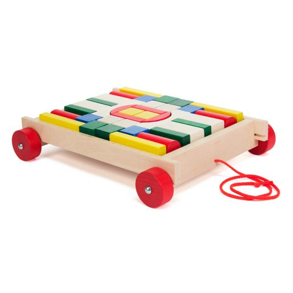 cart with building blocks